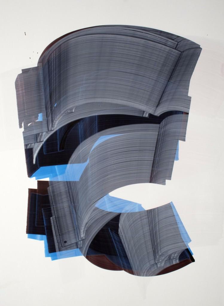 Sergio Barrera. serie. Camaleón Velado, nº 10  - veiled chameleon - 70 x 50 cm. Acrílico sobre papel de piedra y tabla. 2012. Imagen por cortesía del artista