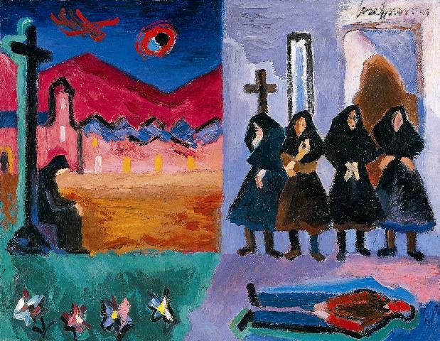 José Guerrero, La Aparición, 1946. Imagen cedida por el Centro José Guerrero.