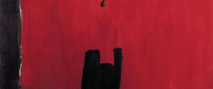 José Guerrero, Oferta con Rojo, 1988. Imagen cedida por el Centro José Guerrero.