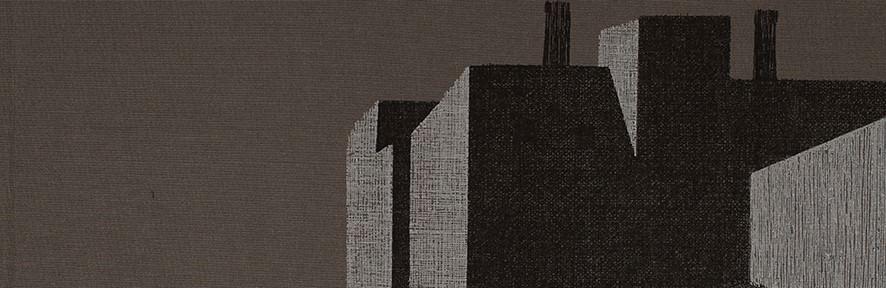 Marcelo Fuentes, 5 Arquitecturas, 2012. Tamaño hoja: 35 x 25 cm. Tamaño mancha: 14 x 24 cm. Imagen cedida por Larga Marcha.