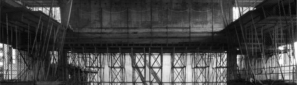 Construcción del edificio del Centro Cultural Rambleta por Mariela Apollonio, imagen cedida por Helena de las Heras.