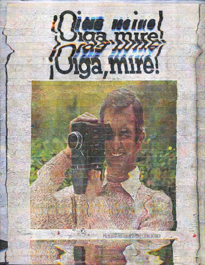 """Alejandro Bombín, """"¡Oiga mire!"""", 2012. Acrílico sobre loneta, 146 x 114 cm. Imagen cortesía de Galería Fernando Pradilla."""