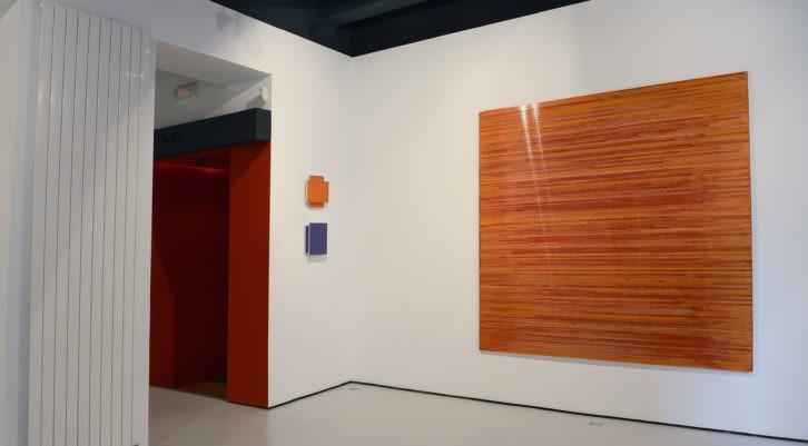 "Foto de sala exposición ""Transparente"" de María Aranguren. Imagen cortesía de Galería Astarté."