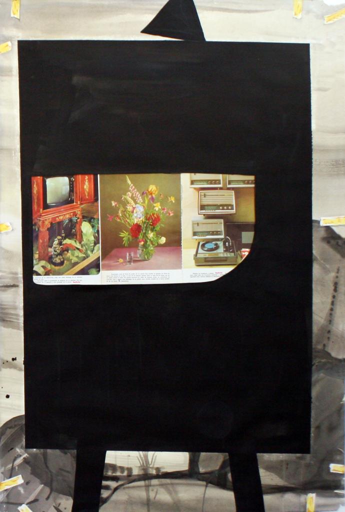 """Miki Leal. """"Tutti Plain Air"""", 2013. Acrílico y acuarela sobre papel. 113 x 76 cm. Imagen cortesía de Galería Fúcares."""