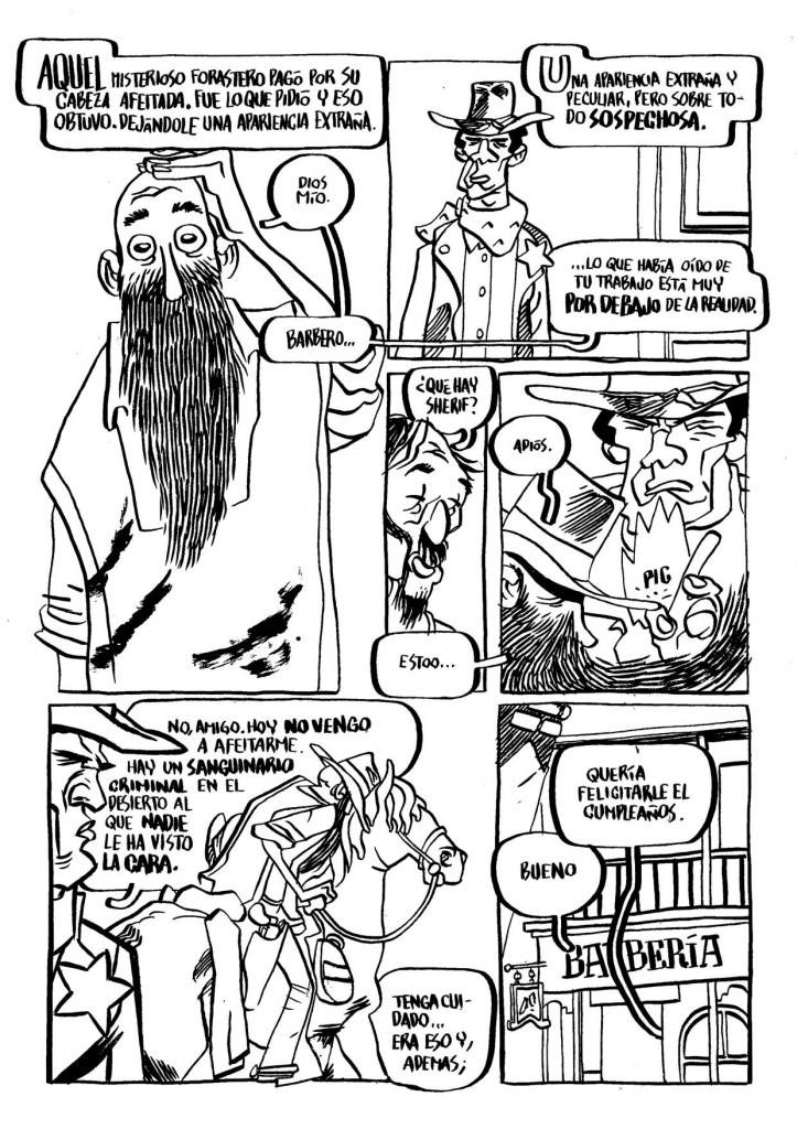 """Esteban Hernández, """"El cobarde Barbero"""" pág. 3. Imagen cortesía de Manuel Garrido."""