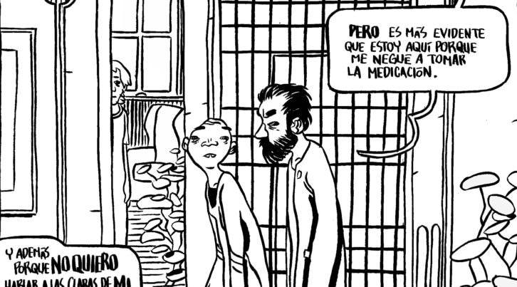 """Esteban Hernández, """"Maldita Metáfora"""" pág. 8, 2006. Imagen cortesía de Manuel Garrido."""