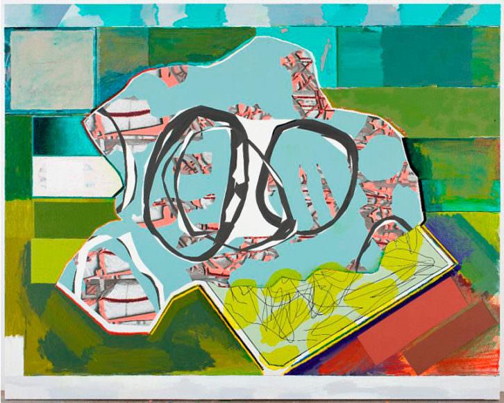 Luis Gordillo. Genetic Island, 2011. Acrílico sobre lienzo. 176 x 220 cm. Imagen cortesía de Galería Aural