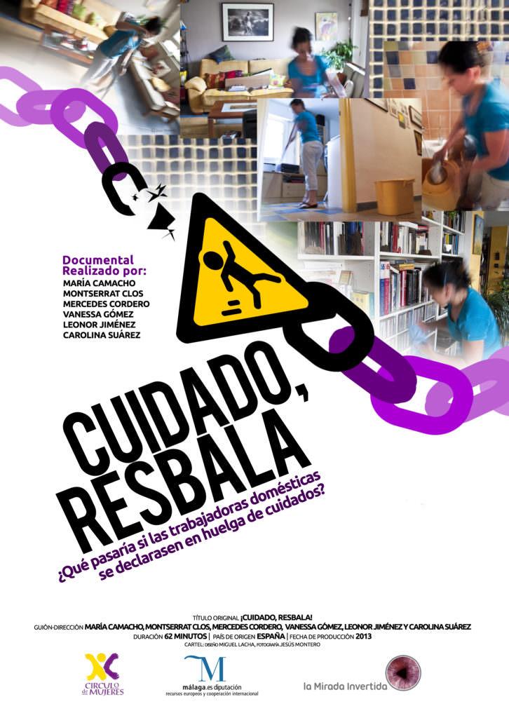 Cartel anunciador del documental 'Cuidado, resbala'. Imagen cortesía de La Llotgeta.