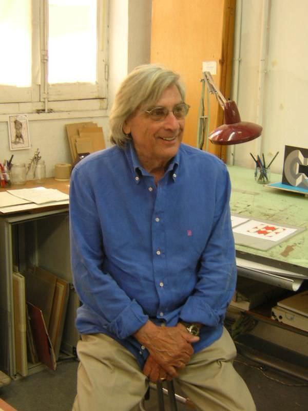 Rinaldo Paluzzi en su estudio. Imagen cortesía de J. Martín