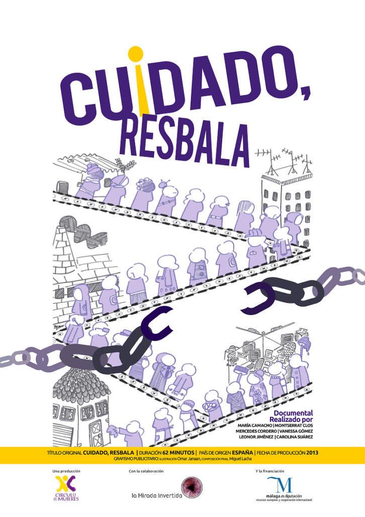 Cartel del documental 'Cuidado, resbala'. Aula de Cultura La Llotgeta