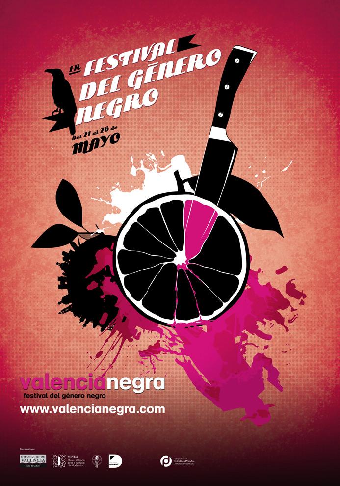 Cartel del Festival Valencia Negra