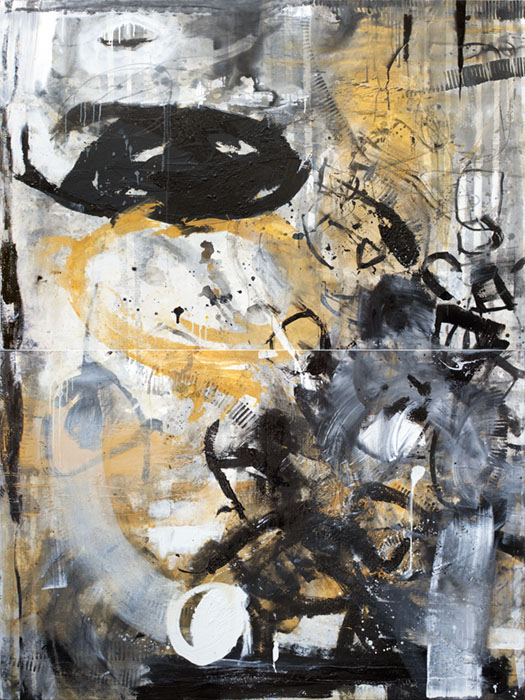 Creuant el foc, de Laura Iniesta. Exposición De puño y letra. Imagen cortesía de la galería Alba Cabrera