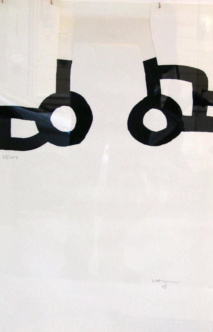 Obra de Chillida. Imagen cortesía de Galería Benlliure