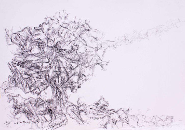 Árbol de vacas, de Carlos Montesinos. Galería Cuatro