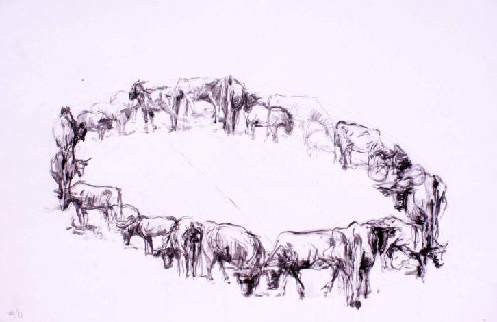 Círculo de animales, de Carlos Montesinos. Galería Cuatro