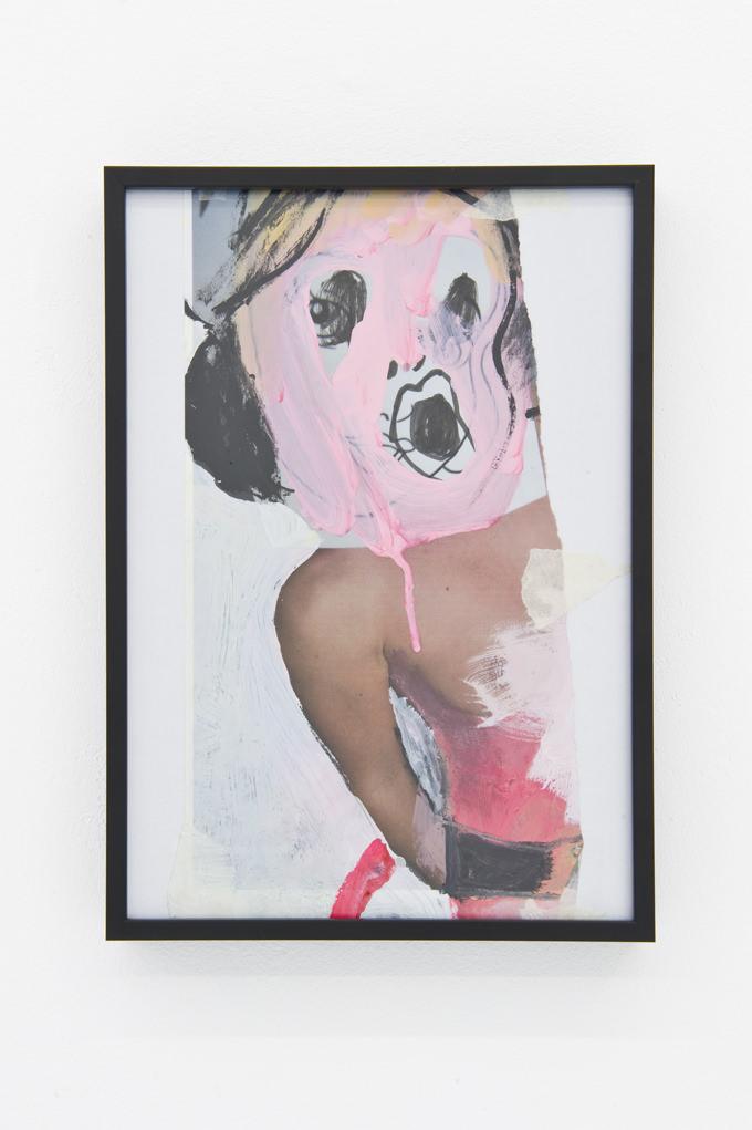 """""""Blancanieves"""", Bel Fullana, 2013. Collage, acrílico y cinta de carrocero sobre papel enmarcado 21 x 29,7 cm. Imagen cortesía de Louis 21."""