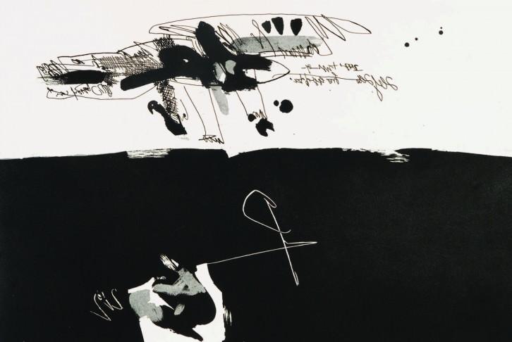De la carpeta Antropofauna, Manolo Miralles, 1969-1970. Aguafuerte sobre papel Arches. 57,5 x 77 cm. Imagen cortesía de Diego Arribas.