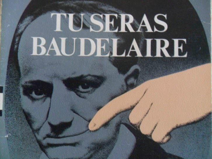 Detalle de la portada del libro Tú serás Baudelaire, de Fernando Poblet, Ediciones Noega