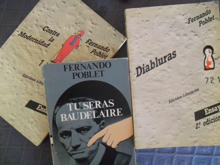 Portadas de algunos de los libros de Fernando Poblet