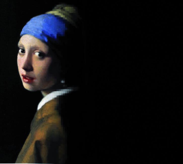 Cartel de la joven de Vermeer para la carrera de Bellas Artes. Imagen cortesía de ESAT