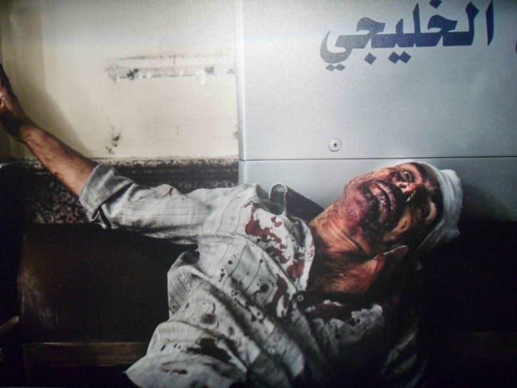 Fotografía de Manu Brabo. Españoles en primera línea de fuego, estallido árabe. Sala Lametro