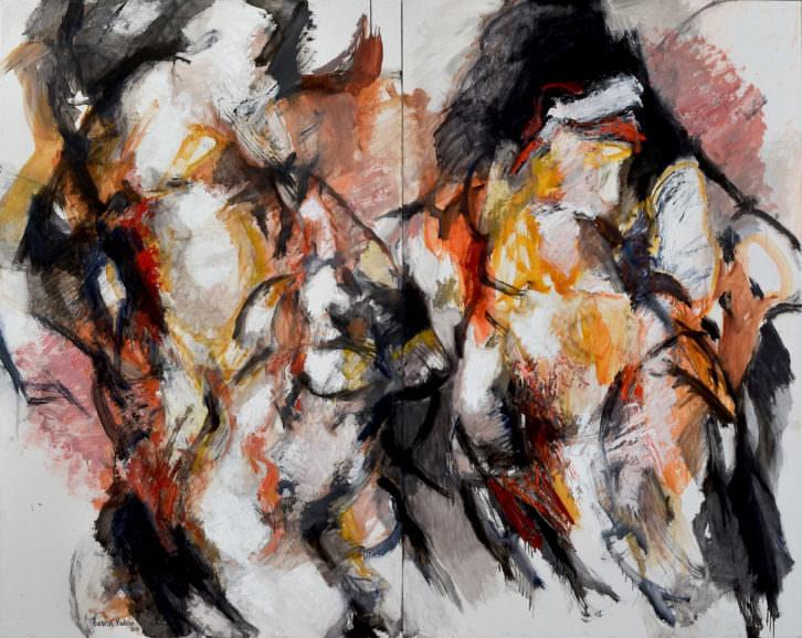Obra de Aurora Valero, para el Homenaje a Silvestre d'Edeta. Las Atarazanas. Imagen cortesía de Arteenred