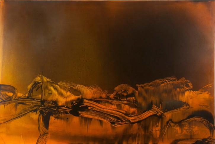 """""""Memoria de una noche"""", Luis Moscardó. Óleo sobre lienzo, 130 x 195 cm. 2013. Imagen cortesía de Kir Royal Gallery."""