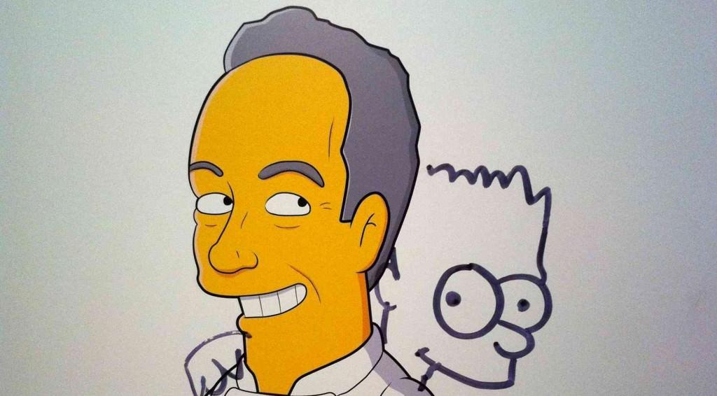 Adrià y Bart Simpson. Miguel Mallol