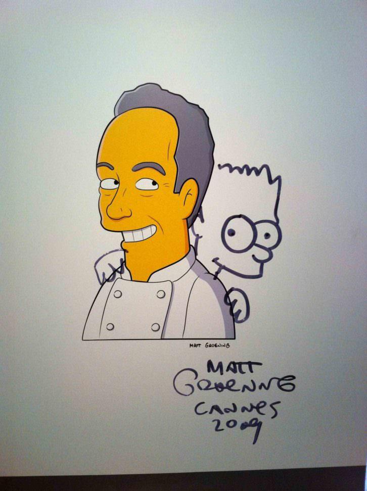 Ferran Adrià y Bart Simpson. Fotografía: Miguel Mallol