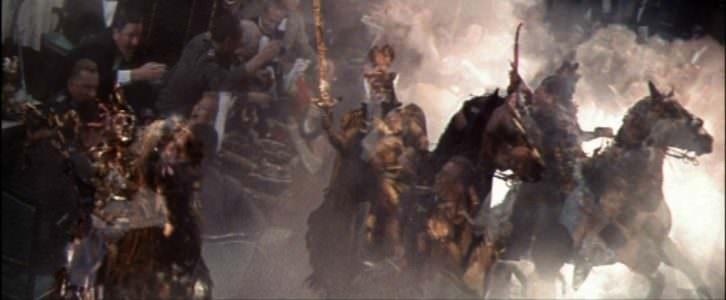 Fotograma de Los cuatro jinetes del apocalipsis, de Vincente Minnelli, basada en la obra de Blasco Ibáñez