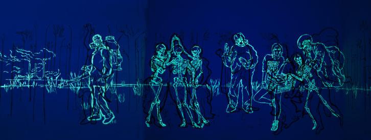 Luna Bengoechea. Still Life. Instalación mural. Imagen cortesía de la artista