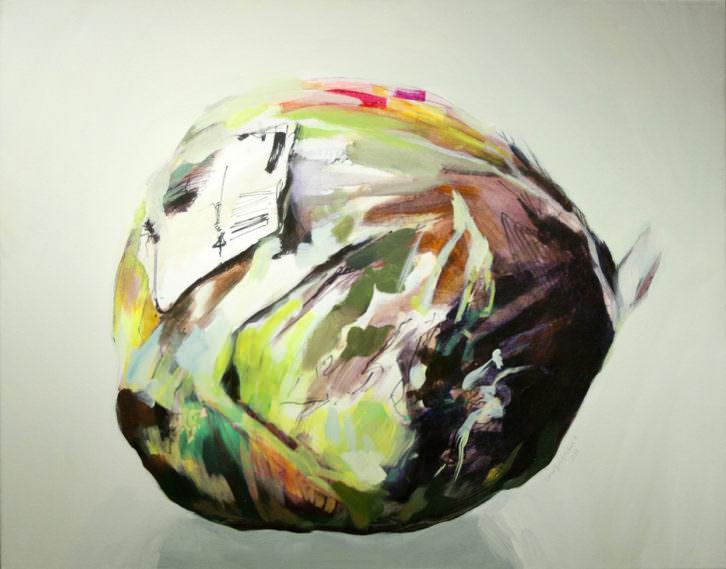 """Luna Bengoechea. Lechuga """"Iceberg"""", Serie Naturaleza muerta por asfixia. Imagen cortesía de la artista"""