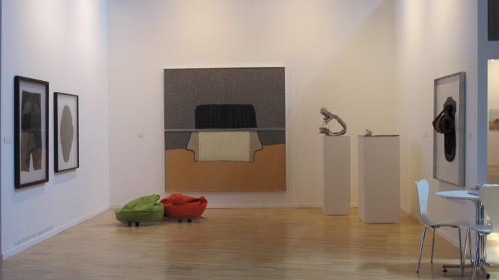 Obras de Manel Margalef en el stand de Galería Cànem en Arte Santander 2013