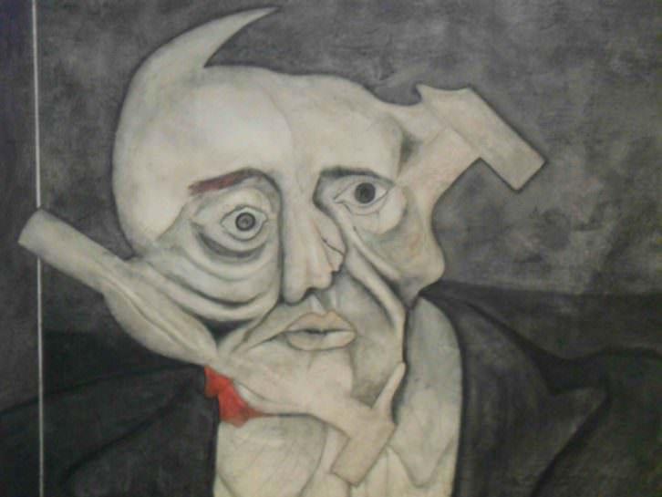 L'home del martell, obra de Martín Caballero, en la exposición Monstruo. Historias, promesas y derivas. Imagen cortesía de la Fundación Chirivella Soriano