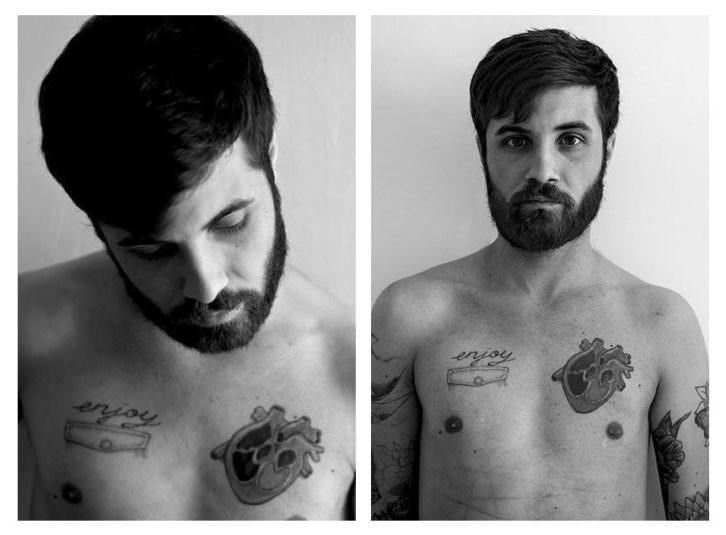 """El artista Abel Azcona en el segundo """"Confinement In Search Of identity"""". Fotografía de Juan Barte."""
