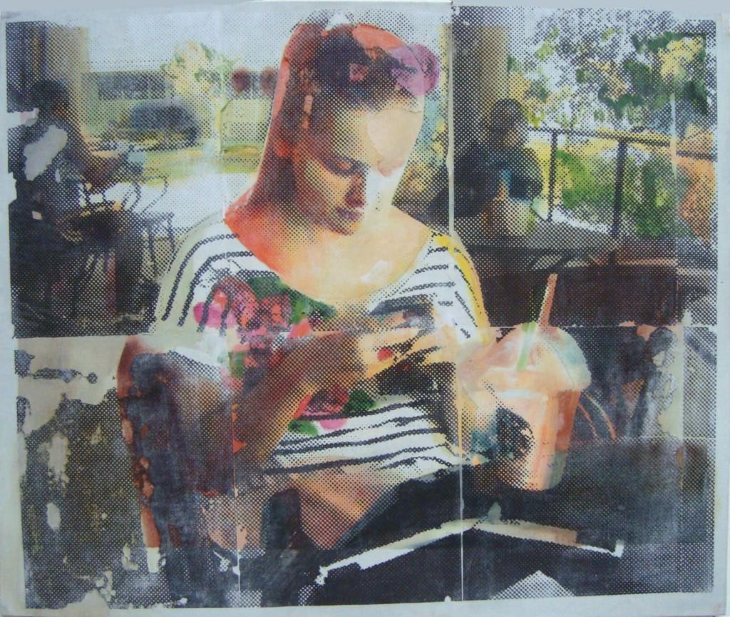 Obra VII de la serie 'Lo importante es con quién compartes el plato no de qué está lleno', de Casasola. Imagen cortesía del artista.