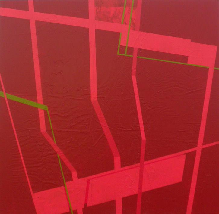 Red over red. 90 x 90. 2013. Imagen cortesía del autor.
