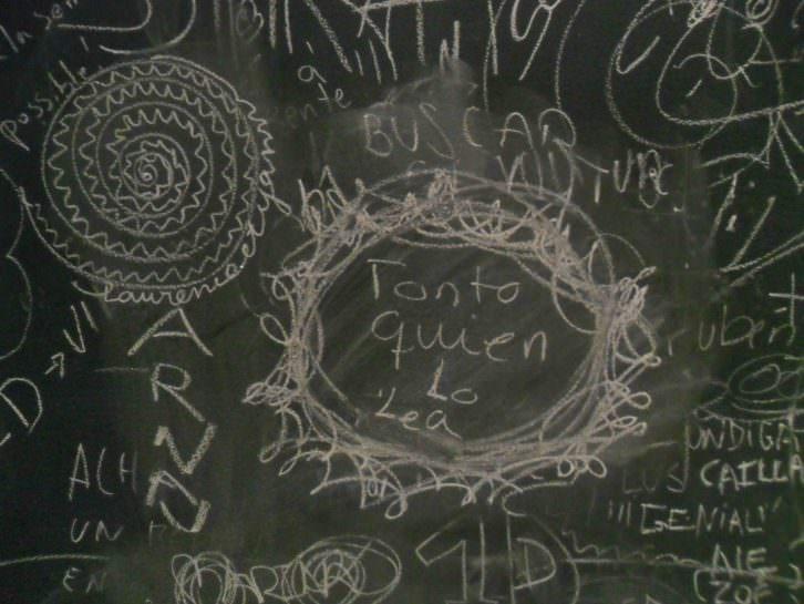 Detalle de la pieza realizada por Josu Rekalde, Mikel Arce y Enrike Hurtado.