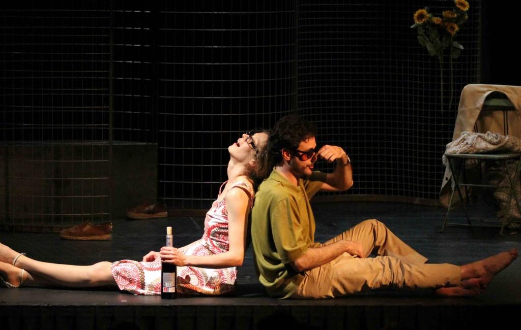 Ana Caleya y Daniel Moreno en un momento de la obra.