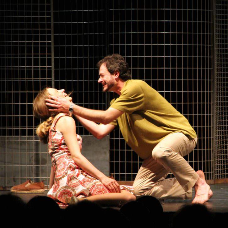 """Ana Caleya y Daniel Moreno en """"Los hermosos días de Aranjuez"""". Imagen cortesía de Galantys Teatro"""