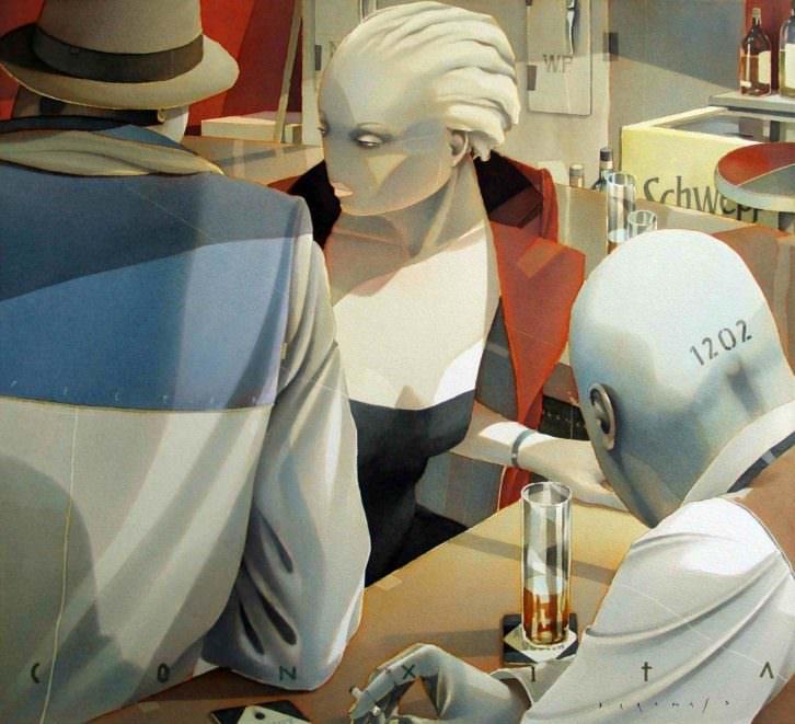 Obra de Frances Daranas, en Galería Isabel Bilbao. Imagen cortesía de Abierto Valencia