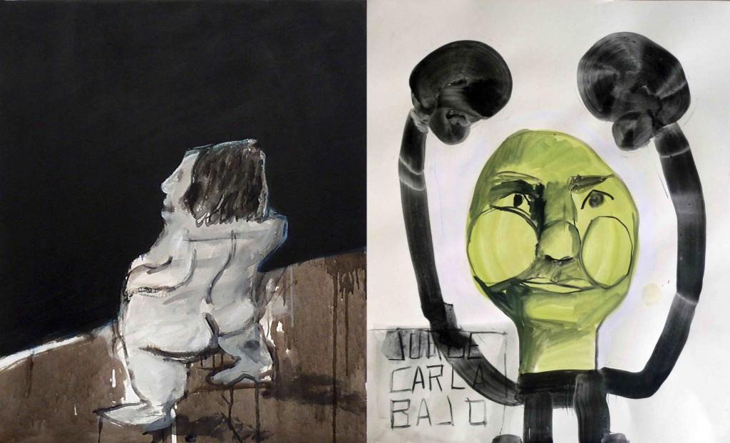 Collage de Jorge Carla en Galería Cuatro