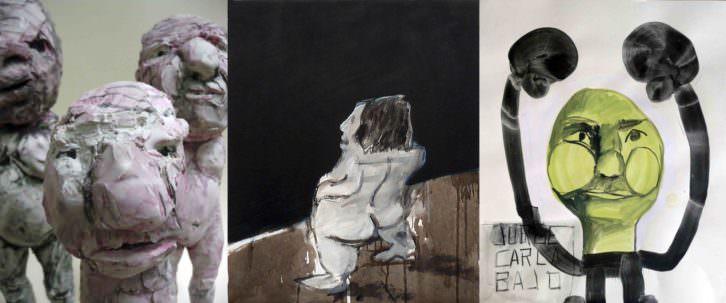 Collage de Jorge Carla en Galería Cuatro. Imagen cortesía de Galería Cuatro.