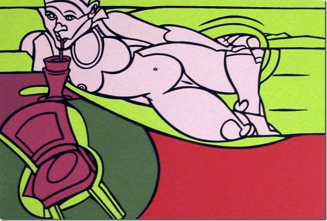 'Desnudo', obra de Valerio Adami. Imagen cortesía de Rosalía Sender
