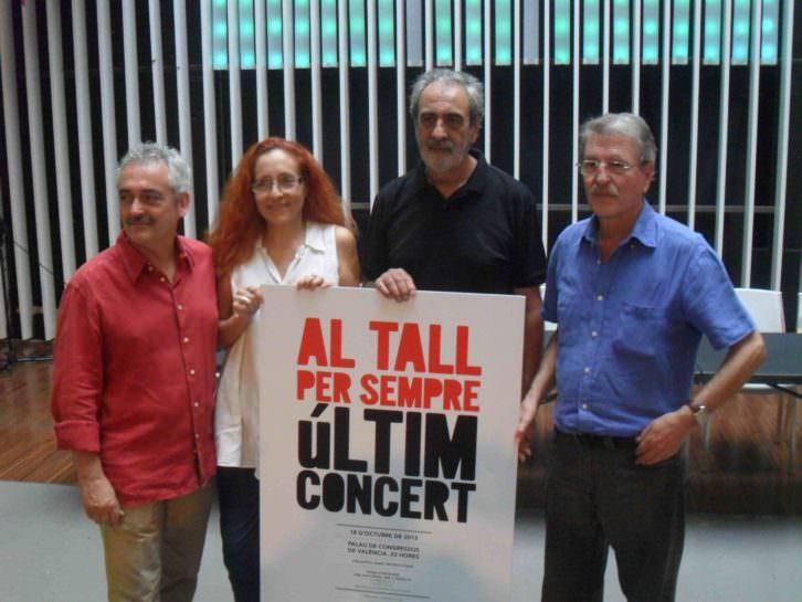 Jordi Reig, Maribel Crespo, Manolo Millares y Vicent Torrent, miembros de Al Tall, en la presentación en el OCCC de su último concierto