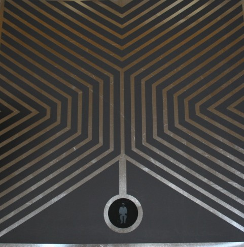 Obra de Anzo en Colectiva Grandes Artistas, de Espacio 40 en Caixa Rural de Onda. Imagen cortesía de Espacio 40.