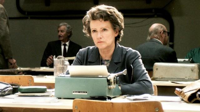 Barbara Sukowa en el papel de Hannah Arendt, película de Margarethe von Trotta.