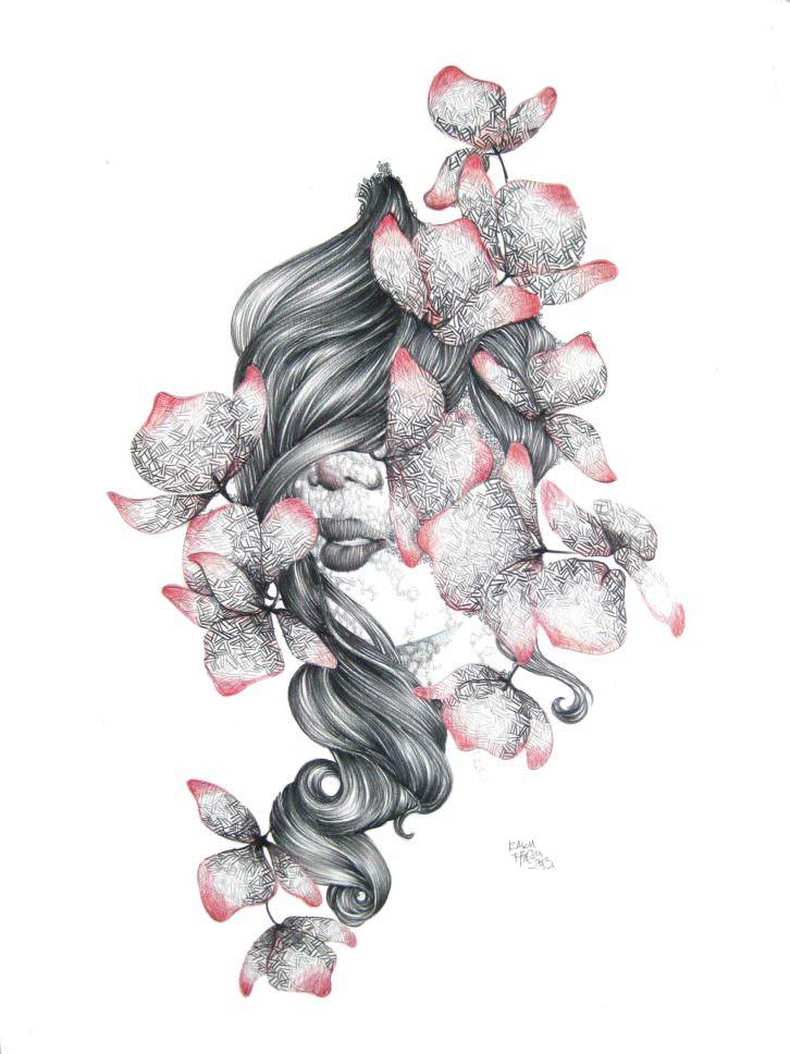 Obra de Raquel Carrero, en Trentatres Gallery. Imagen cortesía de Trentatres Gallery