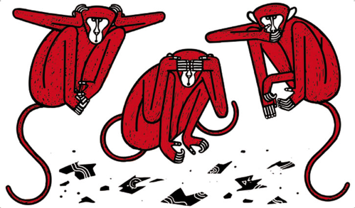 Ilustración de Arnal Ballester para 'La maleta de Portbou'.