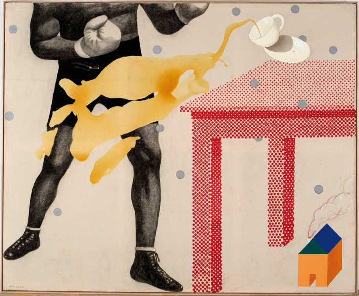 L'etern combat, de Artur Heras, en la Fundación Chirivella Soriano. Imagen cortesía del autor.